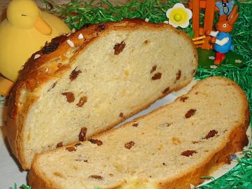 Bäckerland Oster-Brot Feines Hefegebäck mit Rosinen 500g