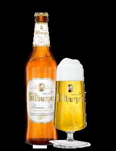 Bitburger bierglass Pokal 0,3 liter mit logo