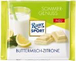 Ritter Sport Weisse Schokolade Buttermilch-Zitrone 100g