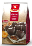 Weiss Lebkuchen-Herzen Zartbitter gefüllt m Aprikose (300g)