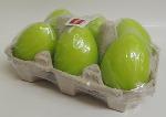 Eika 6 Eierkerzen grün