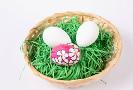 Osterkörbchen mit Ostergras