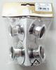 Metal Kerzenhalter Silber 4 Stück