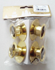 Geromr 4 Metall-Kerzenhalter golden