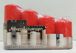 Gala Weihnachtskerzen Adventsstumpen Rot 4 pièces