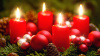 Gala Kerzen Stumpen 4 x 9cm  Kirsche 4er