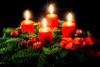 Gala Kerzen Stumpen 4 x 9cm Rot 4er