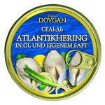 Dovgan Atlantikhering in Öl und eigenem Saft 240g