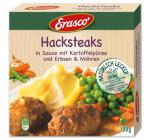 Erasco Hacksteaks in Sauce mit Kartoffelpüree, Erbsen & Möhren 48