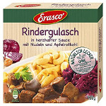 Erasco Rindergulasch in herzhafter Sauce, Nudeln & Apfelrotkohl