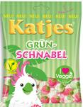 Katjes Veggie Grünschnabel OHNE TIERISCHE GELATINE 200g