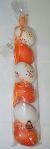 Behang-Eier 6cm 6 Stueck Orange Weiss