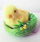 Heitmann Deco-Schmuck Chenilleküken im Nest