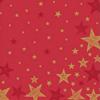 Duni Weihnachtsservietten Shining Star Red 20 Stück 33 x 33cm