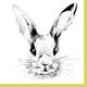 Duni Osterservietten Bunny Face 20 Stk. (33cm x 33cm)