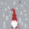 Duni Weihnachtsservietten Tomte Med Luva 20 Stück 33 x 33cm