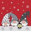 Duni Weihnachtsservietten Tre Tomtar 20 Stück 33 x 33cm