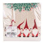 Duni Naturals Lunchserviette Happy Santas 25 Stück 33cm x 33cm