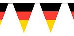 Wimpelkette deutsche Fahne schwarz-rot-gold 10M
